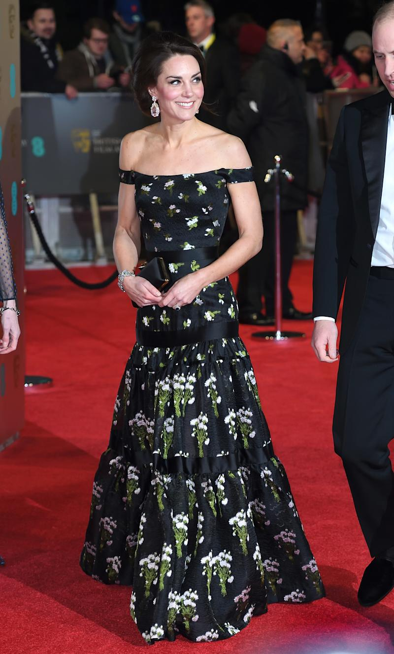 At the 2017 BAFTAs