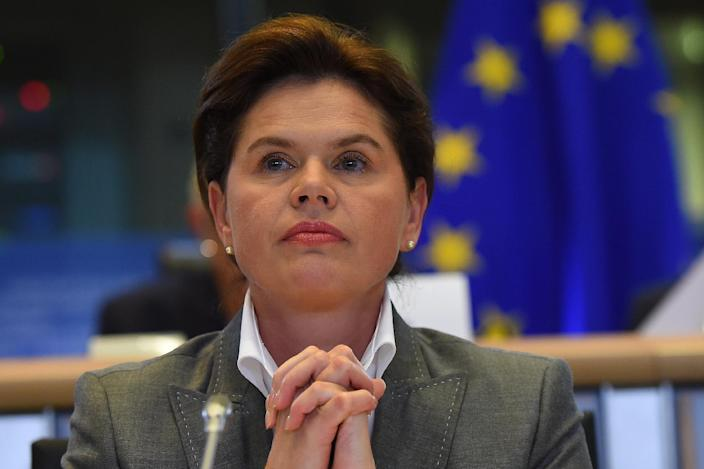 Slovenia's European Commissioner-designate Alenka Bratusek answers questions during her hearing at the European Parliament in Brussels, on October 6, 2014 (AFP Photo/Emmanuel Dunand)