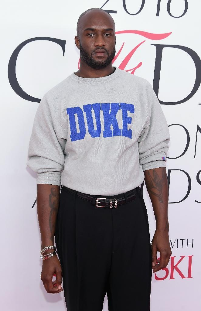 Fashion designer Virgil Abloh attends the 2016 CFDA Fashion Awards at the Hammerstein Ballroom on June 6, 2016 in New York City (AFP Photo/Jamie McCarthy)