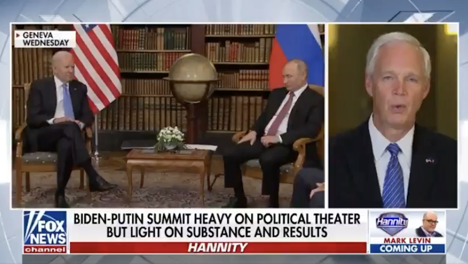 Senator Ron Johnson suggests President Biden may be 'compromised' by Russia (Fox News)