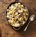 """<p>While this creamy casserole makes for the perfect <a href=""""https://www.goodhousekeeping.com/holidays/thanksgiving-ideas/g1471/leftover-turkey-recipes/"""" rel=""""nofollow noopener"""" target=""""_blank"""" data-ylk=""""slk:leftover Thanksgiving-turkey"""" class=""""link rapid-noclick-resp"""">leftover Thanksgiving-turkey</a> vehicle, you will want to add this crowd-pleasing pasta bake, full of Gruyère, mushrooms, and spinach, to your routine every day of the year with the addition of rotisserie chicken.</p><p><em><a href=""""https://www.goodhousekeeping.com/food-recipes/a29429290/turkey-pasta-casserole-recipe/"""" rel=""""nofollow noopener"""" target=""""_blank"""" data-ylk=""""slk:Get the recipe for Creamy Chicken Pasta Casserole »"""" class=""""link rapid-noclick-resp"""">Get the recipe for Creamy Chicken Pasta Casserole »</a></em><br></p>"""