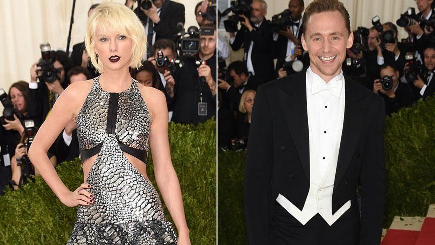 Taylor Swift and Tom Hiddleston on the Met Gala red carpet...before the dancing began! Photo: Getty Images