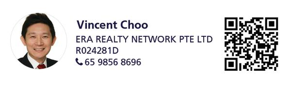 Contact details of marketing agent, Vincent Choo from ERA Realty Network, CEA Registration No: R024281D, Mobile: 9856 8696