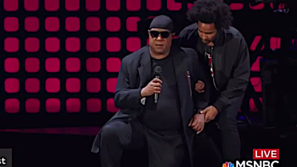 Stevie Wonder Interrupts Concert To 'Take A Knee' For America