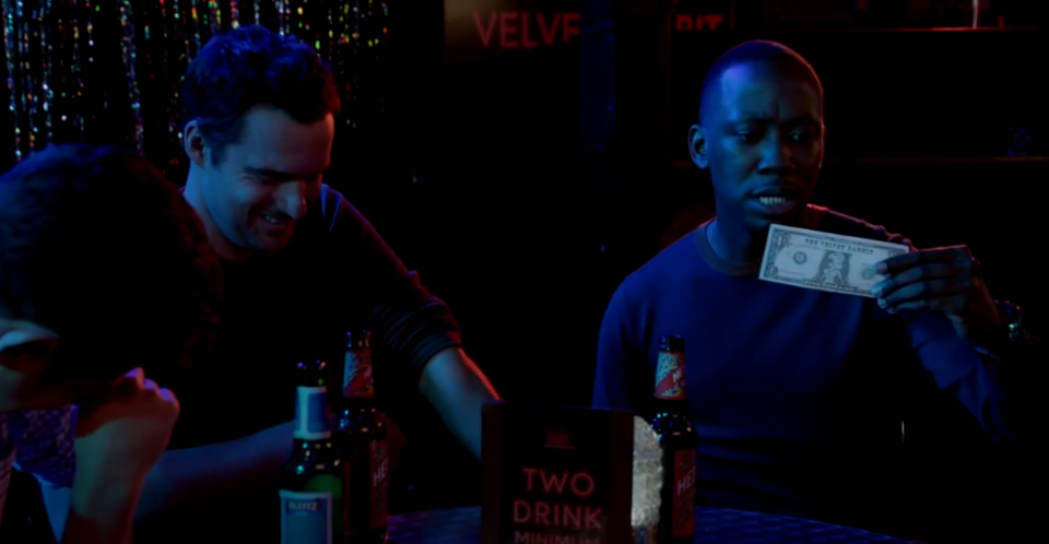 """<p>On <em>New Girl</em>, Winston makes a very expensive mistake when he takes out what he believes to be $2,000 at a strip club ATM. In reality, it's """"Bunny Money,"""" a currency that can only be used at the club itself. Yikes. Do yourself a favor and read the fine print, okay?</p>"""