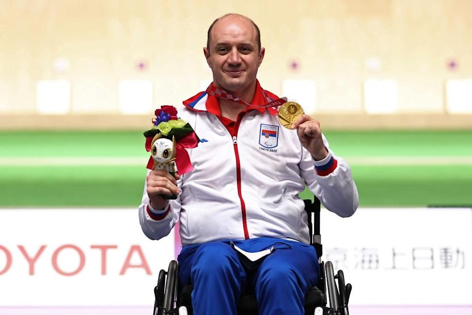 Double gold medalist Dragan Ristic of Serbia.