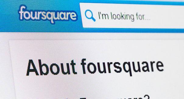 Screenshot of the foursquare homepage