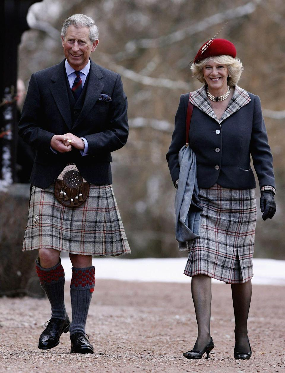 <p>Charles and Camilla spent their first wedding anniversary at their home, Birkhall, on the Balmoral estate.</p>