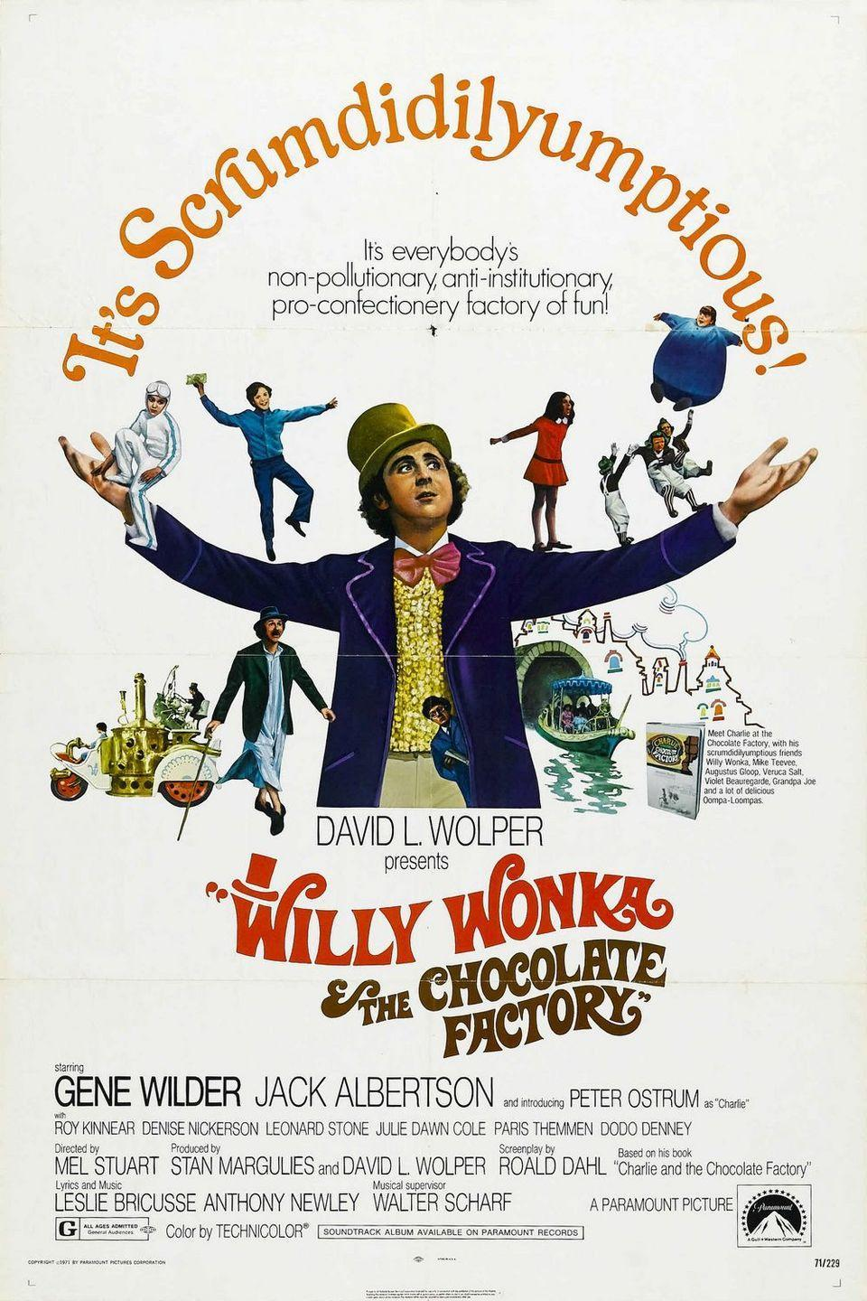 """<p>While it's not typically considered a """"musical,"""" Gene Wilder's kooky candy inventor is one of the most beloved characters of all time and technically... there<em> is</em> music. Willy Wonka is a movie that parents share with their kids and it keeps getting passed down from generation to generation. It's hard not to get choked up whenever """"Pure Imagination"""" starts or get immediately brought back to your childhood when you see an Oompa Loompa on-screen. Even if it is a bit... dark.</p><p><a class=""""link rapid-noclick-resp"""" href=""""https://www.amazon.com/Willy-Wonka-Chocolate-Factory-Wilder/dp/B002YNGNG6/ref=sr_1_1?tag=syn-yahoo-20&ascsubtag=%5Bartid%7C10072.g.27734413%5Bsrc%7Cyahoo-us"""" rel=""""nofollow noopener"""" target=""""_blank"""" data-ylk=""""slk:WATCH NOW"""">WATCH NOW</a></p>"""