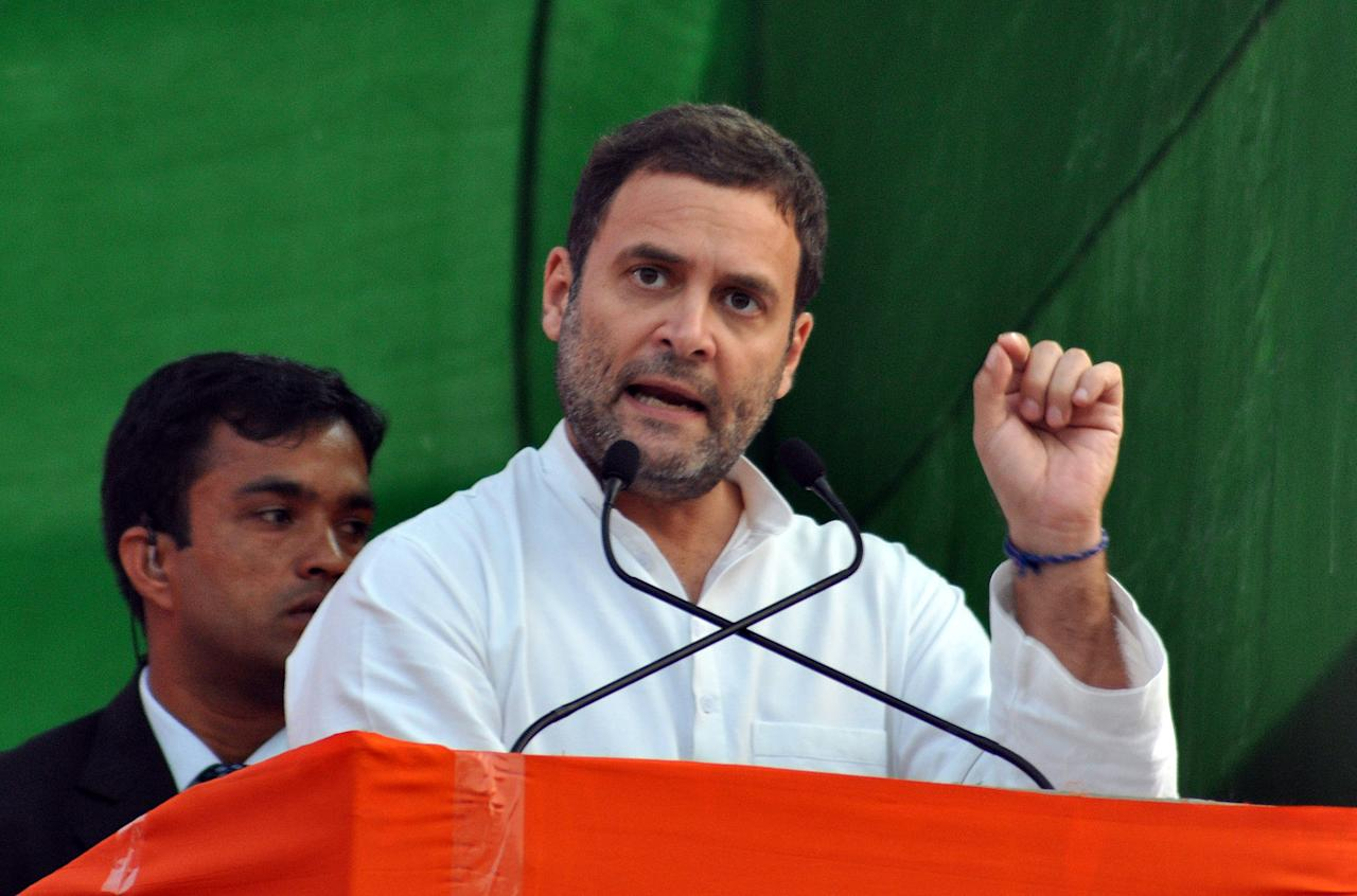 <p>From his endless temple visits to flaying the government on the Rafale deal & demonetisation, the Congress president dominated the headlines. </p>