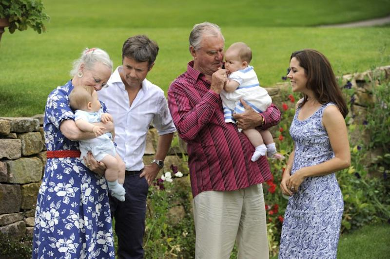 Here the Prince is pictured with Princess Mary, Prince Frederik, Queen Margrethe and their kids. Photo: Getty Images
