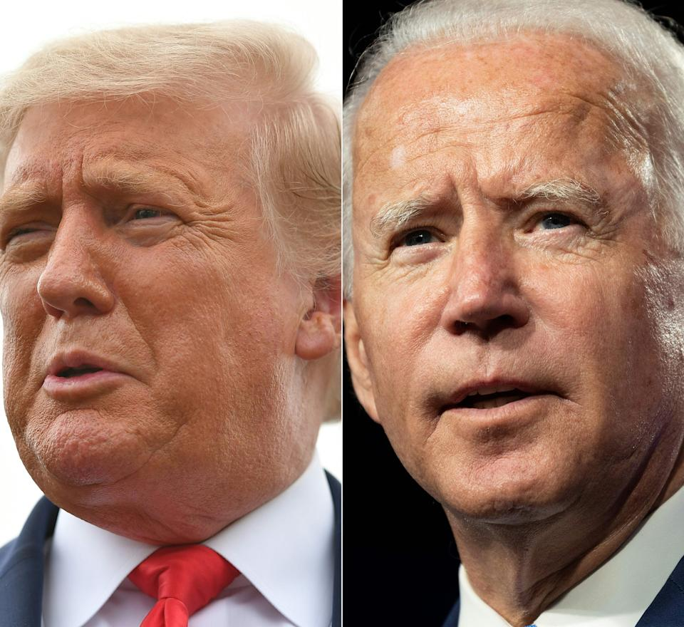 Trump has refused to say whether he would commit to a peaceful transfer of power if he loses to opponent Biden. Photos: Mandel Ngan and Jim Watson / AFP via Getty ImagesUS president Donald Trump and Democratic challenger Joe Biden. Photos: Mandel Ngan and Jim Watson / AFP via Getty Images)