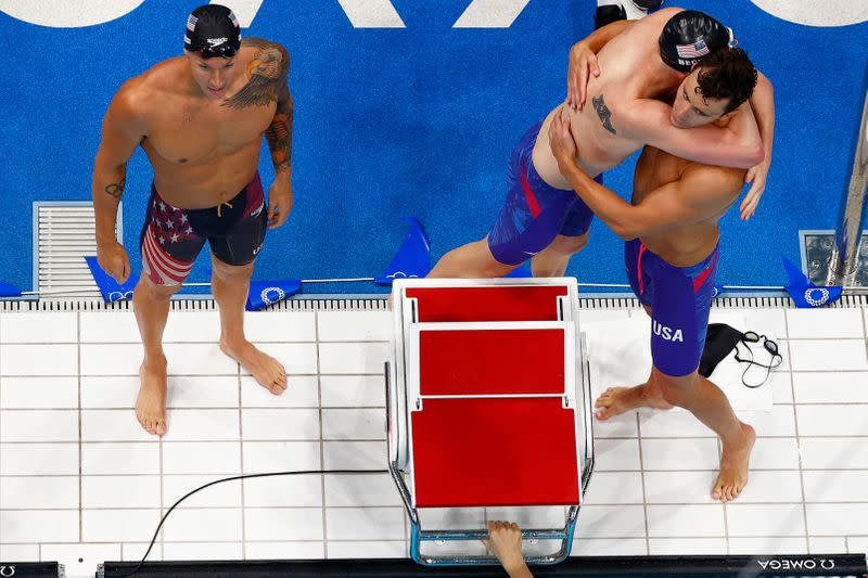 Swimming - Men's 4 x 100m Freestyle Relay - Final