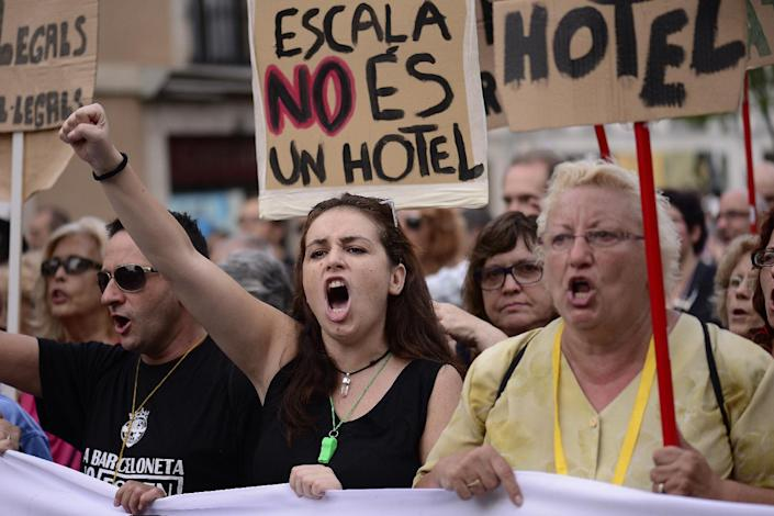 Pissed-Off Barcelona Residents Are Fighting Back Against