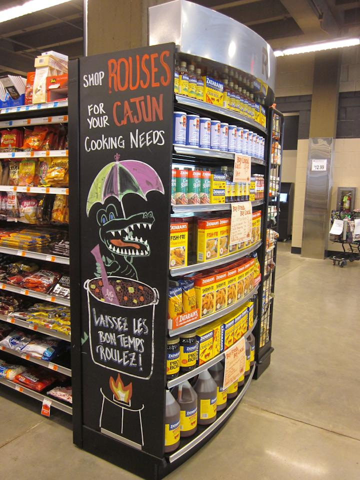 "You'll find <a rel=""nofollow"" href=""https://www.rouses.com/"">Rouses Market</a> locations in Louisiana, Alabama, and Mississippi. One of the largest independent grocers in the US, Rouses specializes in local seafood and Cajun-cooking staples."
