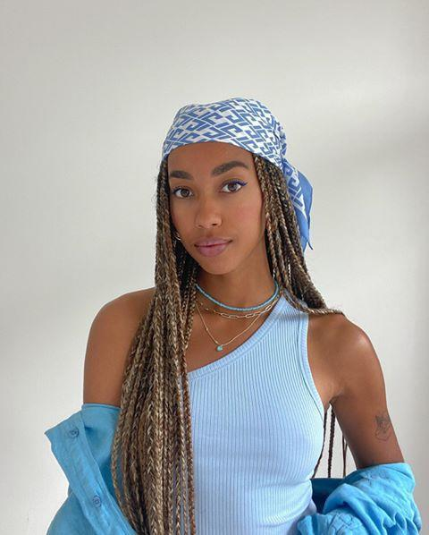 """<p>If you typically switch out your light summer scarves with thick, woven wool ones, consider keeping the silky scarves around for winter this year.<strong> Fun fact: <a href=""""https://www.cosmopolitan.com/style-beauty/beauty/g27047247/best-silk-pillowcase/"""" rel=""""nofollow noopener"""" target=""""_blank"""" data-ylk=""""slk:silk fabric"""" class=""""link rapid-noclick-resp"""">silk fabric</a> helps your hair retain moisture </strong>and can help reduce friction and tangles, which is very much needed during the dry winter months. </p><p><a href=""""https://www.instagram.com/p/CCB00Sthly4/?utm_source=ig_embed&utm_campaign=loading"""" rel=""""nofollow noopener"""" target=""""_blank"""" data-ylk=""""slk:See the original post on Instagram"""" class=""""link rapid-noclick-resp"""">See the original post on Instagram</a></p>"""