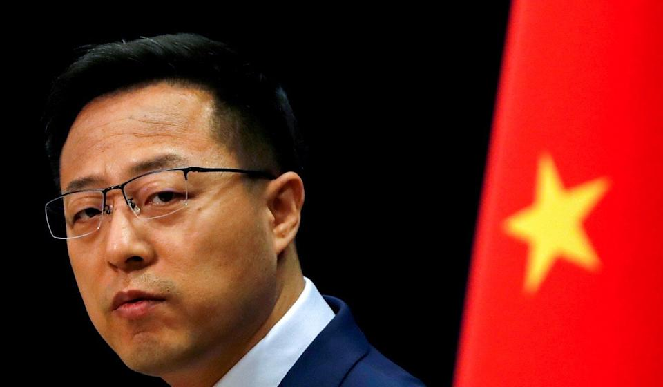 Chinese foreign ministry spokesman Zhao Lijian tweeted the image. Photo: Reuters