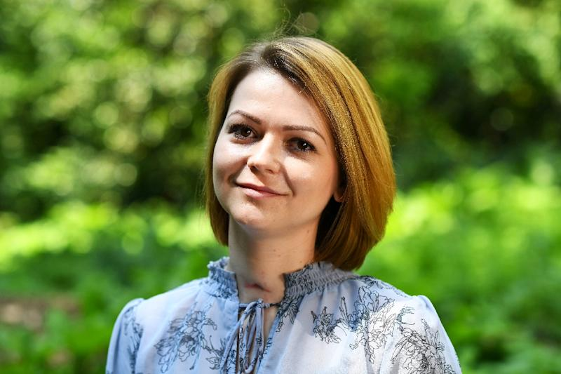 Russian operatives attempted to kill former intelligence agent Sergei Skripal and his daughter Yulia Skripal, pictured in London in May 2018, using Novichok, a military-grade nerve agent (AFP Photo/DYLAN MARTINEZ)
