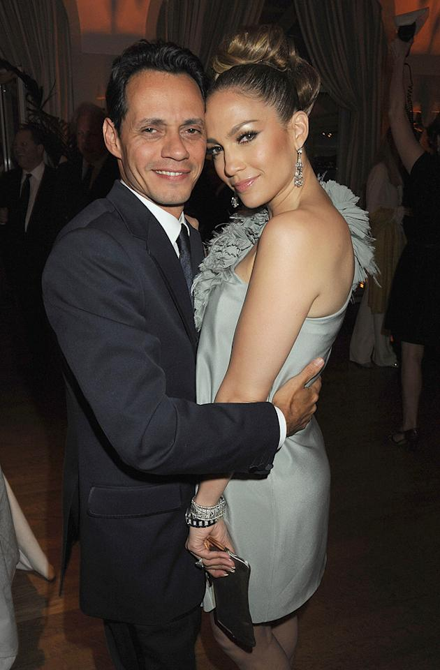 "<a href=""http://movies.yahoo.com/movie/contributor/1800254749"">Marc Anthony</a> and <a href=""http://movies.yahoo.com/movie/contributor/1800023864"">Jennifer Lopez</a> attend the Vanity Fair and Gucci Party Honoring Martin Scorsese during the 63rd Annual Cannes Film Festival at the Hotel Du Cap Eden Roc on May 15, 2010 in Cannes, France."