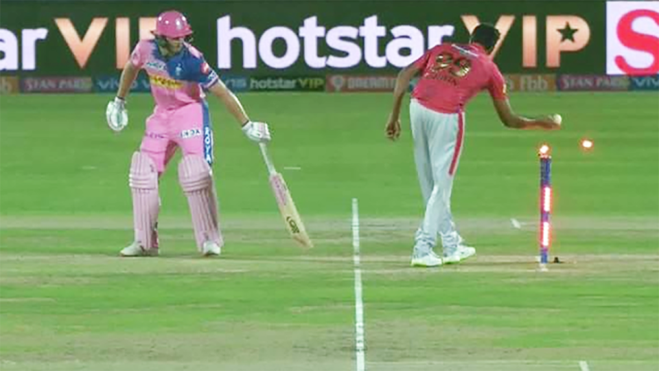 Ashwin appeared to trick Buttler. Image: IPL