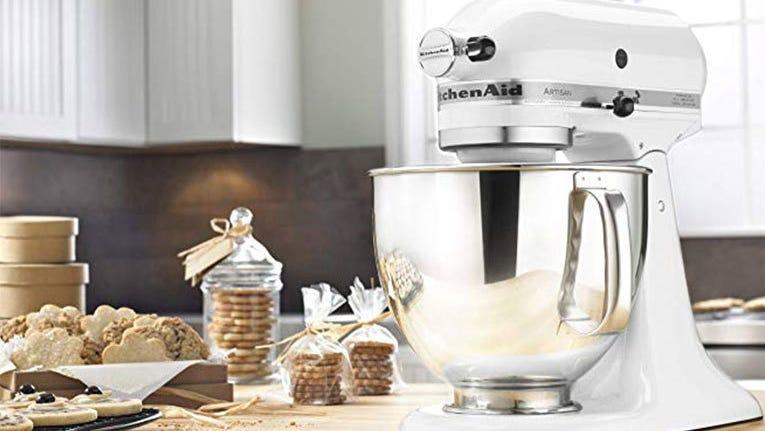 The KitchenAid stand mixer will help with all your baking needs.