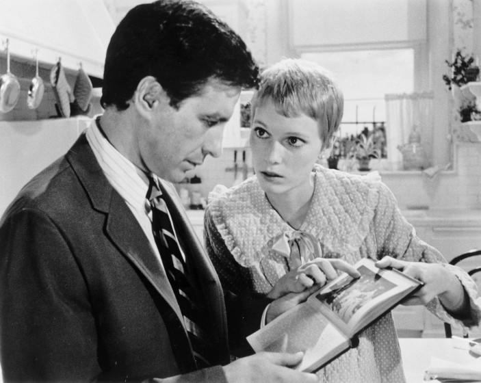 LS.Rosemary.0619.??––John Cassavetes and Mia Farrow in Rosemary'sBaby.Photo/Art by:Unknown Photographer