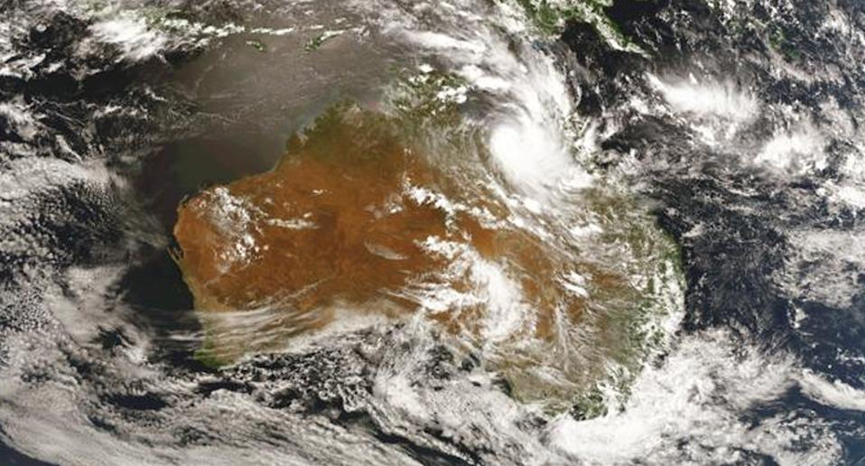 An expected cyclone forming over QLD