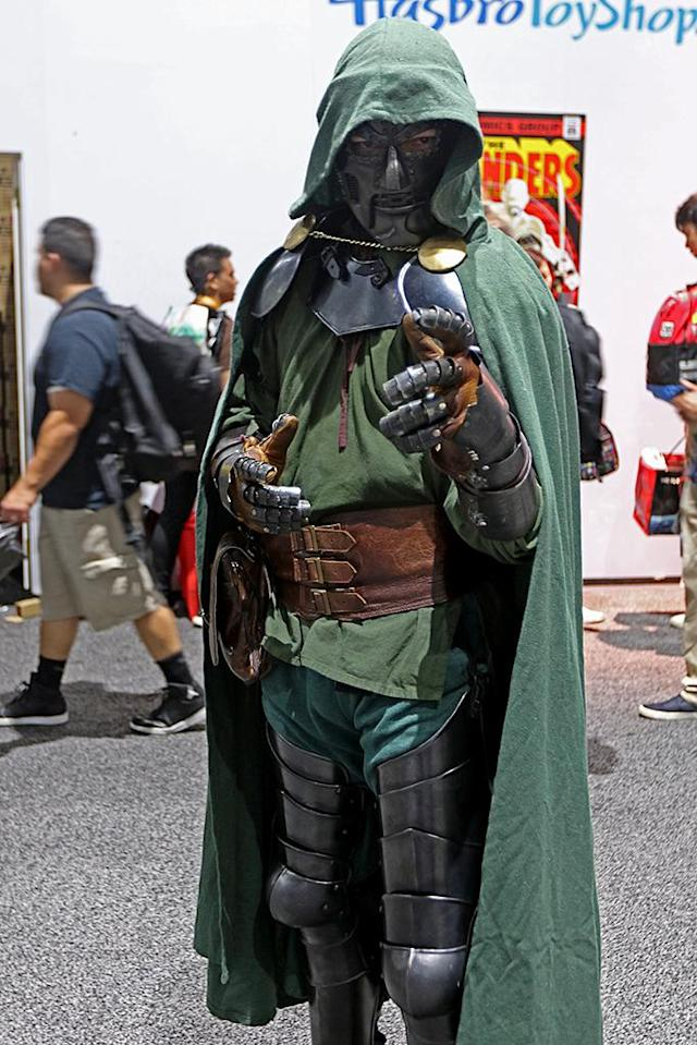 <p>A cosplayer dressed as Dr. Victor Von Doom from Marvel Comics at Comic-Con International on July 19, 2018, in San Diego. (Photo: Angela Kim/Yahoo Entertainment) </p>