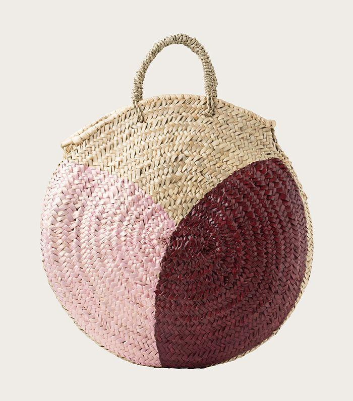 A multicolored bag adds a chic pop of color.