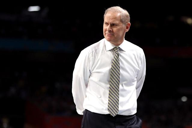 "University of Michigan coach John Beilein is among the candidates for the <a class=""link rapid-noclick-resp"" href=""/nba/teams/det"" data-ylk=""slk:Detroit Pistons"">Detroit Pistons</a> job. (Getty Images)h"