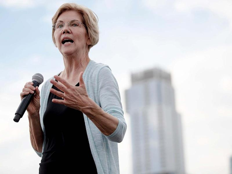 Elizabeth Warren has vowed she would 'rein in' Wall Street if elected in 2020: AP