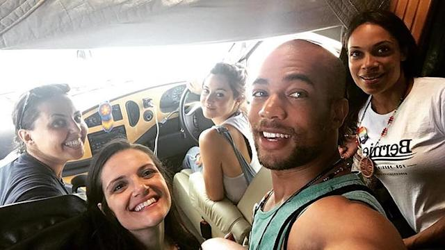"""<p>Diehard Bernie Sanders ally Shailene Woodley saddled up a few supporters to go cross-country and get the word out about the then-hopeful Democratic nominee. The actress dubbed the """"magical"""" trip #BerniesBusTour. The cramped quarters were all in the name of democracy. (Photo: <a href=""""https://www.instagram.com/p/BGCmiTAoSkJ/?taken-by=shailenewoodley"""" rel=""""nofollow noopener"""" target=""""_blank"""" data-ylk=""""slk:Shailene Woodley via Instagram"""" class=""""link rapid-noclick-resp"""">Shailene Woodley via Instagram</a>) </p>"""