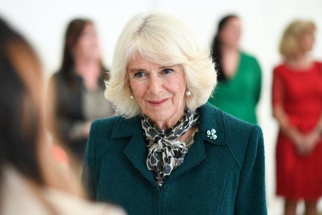 The Duchess of Cornwall during a visit to the Belfast & Lisburn Women's Aid which supports those affected by domestic violence across Belfast and Lisburn. Tim Rooke/PA Wire