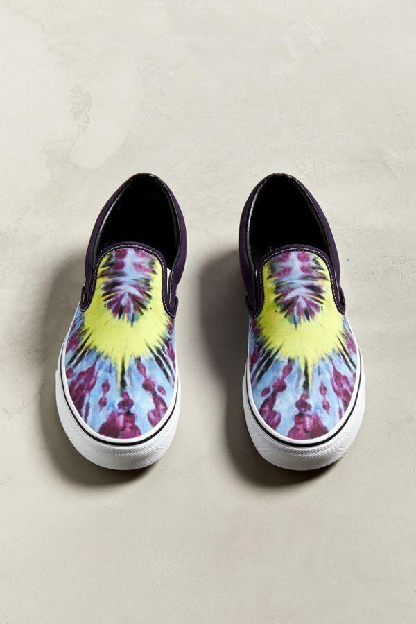 """<strong><a href=""""https://www.urbanoutfitters.com/shop/vans-tie-dye-slip-on-sneaker?category=SEARCHRESULTS&amp;color=095"""" target=""""_blank"""" rel=""""noopener noreferrer"""">Get the Vans tie-dye slip-ons for $60.</a></strong>"""