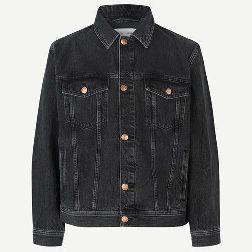 """<p><a class=""""link rapid-noclick-resp"""" href=""""https://www.samsoe.com/en/man/clothing/jackets-and-coats/denim-jackets/mick-jacket-13029/M20500085.html?dwvar_M20500085_color=BLACK+SNOW&dwvar_M20500085_size=XS"""" rel=""""nofollow noopener"""" target=""""_blank"""" data-ylk=""""slk:SHOP"""">SHOP</a></p><p>Scandinavian brand Samsoe & Samsoe has decided to take a more eco-conscious approach to its denim line. The brand has cut back on water consumption by using Eco-tex certified cotton, and donates €1 from each jacket sold to charity:water, a non-profit organisation that provides clean water to some of the world's poorest communities.</p><p>Try pairing this with more formal tailoring: think black pleated trousers, chunky derbies and a white, relaxed fit shirt.</p><p>Mick Black Denim Jacket, £150, <a href=""""https://www.samsoe.com/en/man/clothing/jackets-and-coats/denim-jackets/mick-jacket-13029/M20500085.html?dwvar_M20500085_color=BLACK+SNOW&dwvar_M20500085_size=XS"""" rel=""""nofollow noopener"""" target=""""_blank"""" data-ylk=""""slk:samsoe.com"""" class=""""link rapid-noclick-resp"""">samsoe.com</a></p>"""