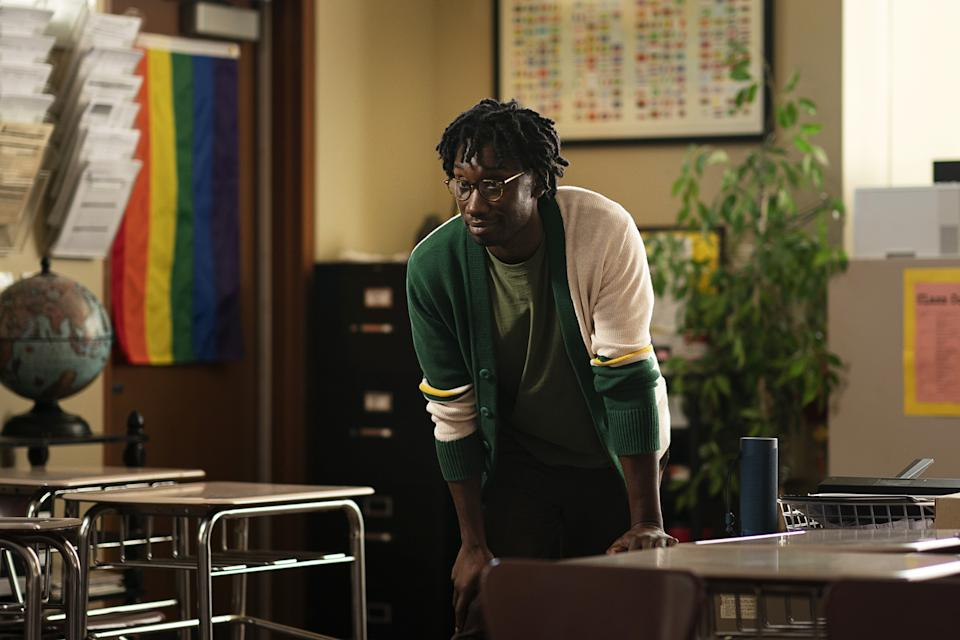 Sam (Nathan Stewart-Jarrett) has had plenty of practice dealing with dodgy youngsters in Misfits and Utopia and now he counsels them in Genera+ion. Picture: Binge
