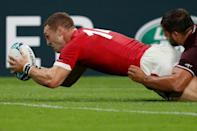 Six Nations champions Wales cruised to victory against Georgia (AFP Photo/Adrian DENNIS)