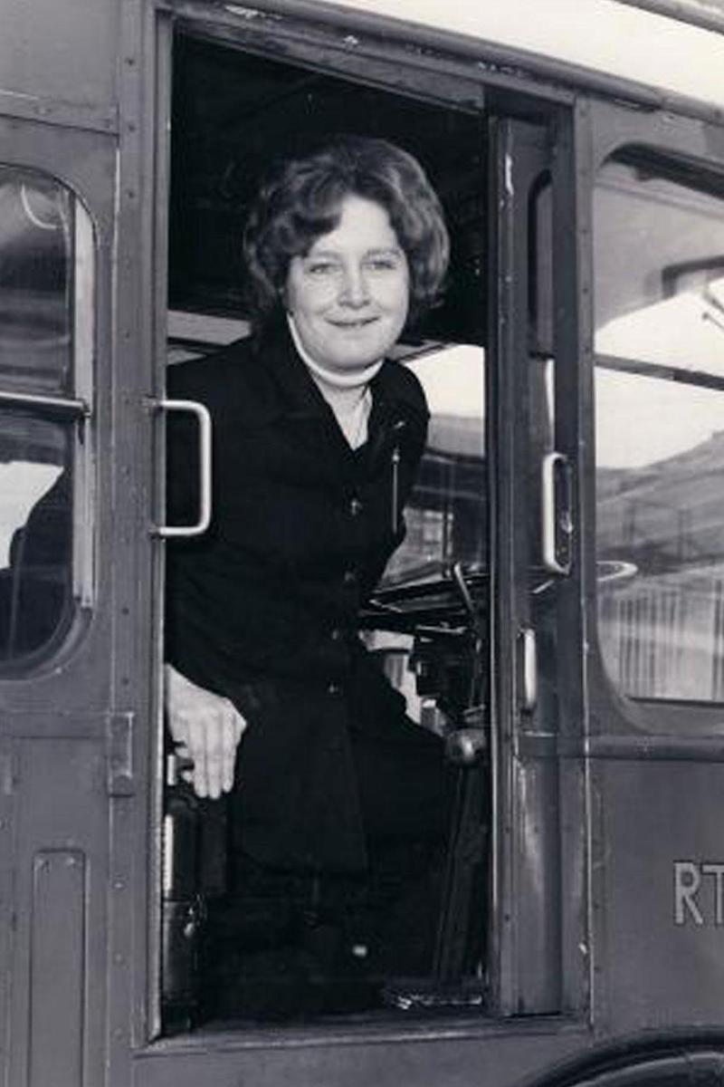 Jill Viner became London's first female bus driver aged 22