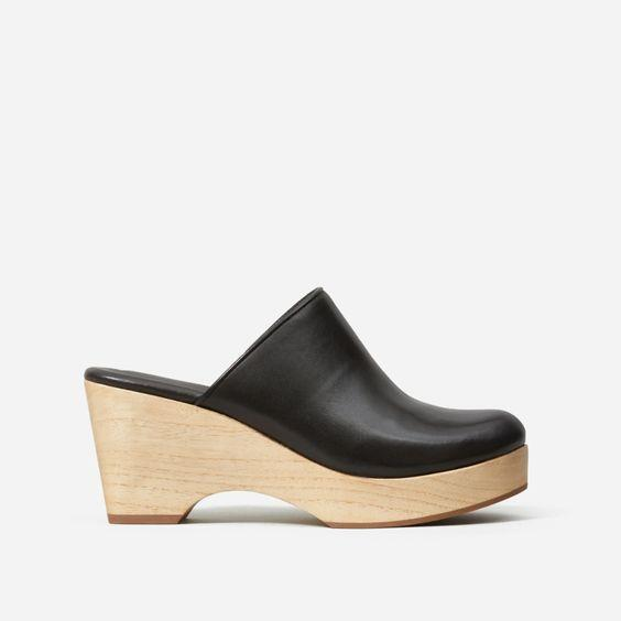 """Clogs aren't going anywhere so might as well jump on the bandwagon while you can! $98, Everlane. <a href=""""https://www.everlane.com/products/womens-clog-black?collection=womens-sale"""" rel=""""nofollow noopener"""" target=""""_blank"""" data-ylk=""""slk:Get it now!"""" class=""""link rapid-noclick-resp"""">Get it now!</a>"""