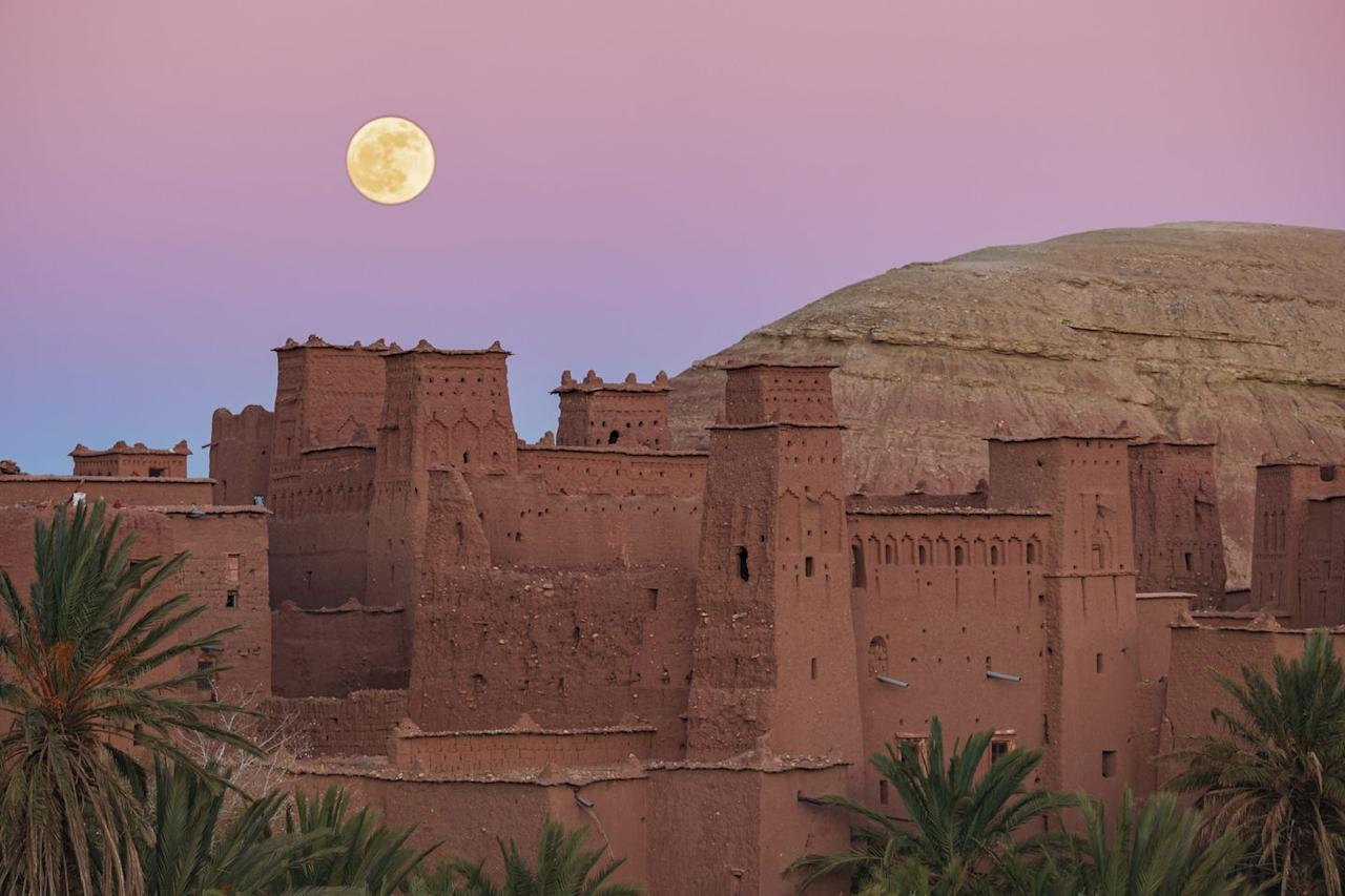 <p>Last Full Moon of 2019 at the Ksar of Ait Ben Haddou, an ancient village in Province, Morocco // December, 2019</p>