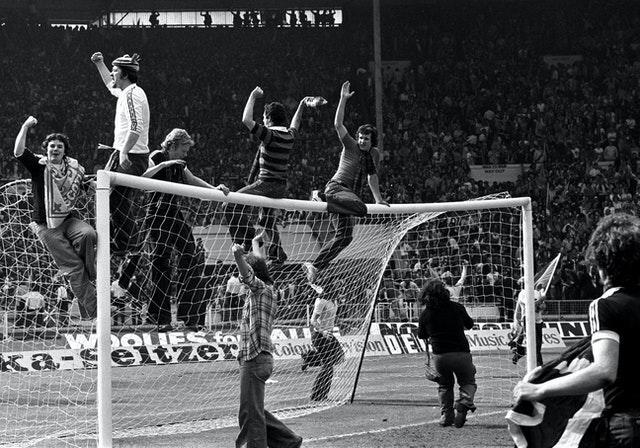 Scotland fans went wild after their win in 1977.