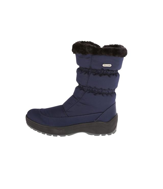 "<p>Pajar, based in Montreal, has several nylon and faux fur styles that not only are superwarm but also come equipped with retractable cleats on the soles (as in this case) for battling slippery ice patches in style. (<a href=""http://www.pajar.com/us_en/snowcap-2-17533.html"" rel=""nofollow noopener"" target=""_blank"" data-ylk=""slk:$230, Pajar"" class=""link rapid-noclick-resp"">$230, Pajar</a>) </p>"