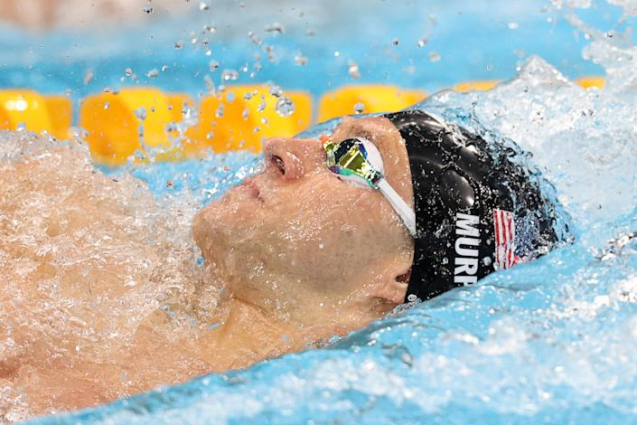 TOKYO, JAPAN - JULY 30, 2021: The USA's Ryan Murphy competes in the men's 200m backstroke final during the swimming event at the 2020 Summer Olympic Games, at Tokyo Aquatics Centre. Stanislav Krasilnikov/TASS (Photo by Stanislav Krasilnikov\TASS via Getty Images)
