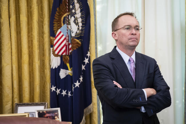 Acting White House Chief of Staff Mick Mulvaney in the Oval Office of the White House on December 19, 2019 in Washington, DC. (Photo: Drew Angerer/Getty Images)