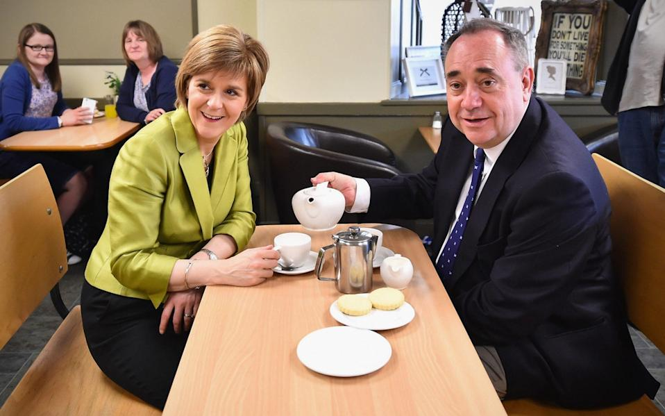 Alex Salmond and Nicola Sturgeon before they fell out - Jeff J Mitchell/Getty