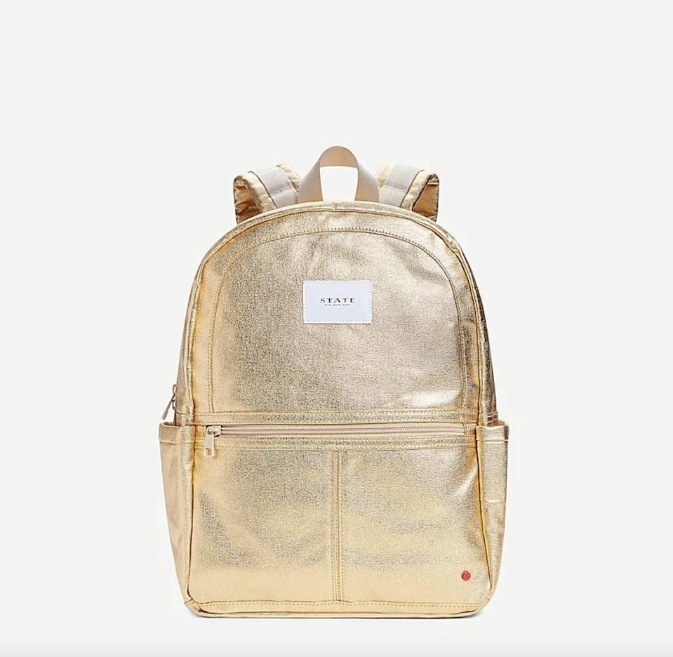 <p>For every <span>STATE Bags Kane backpack</span> ($85) purchased, the brand will donate one to a local child in need.</p>