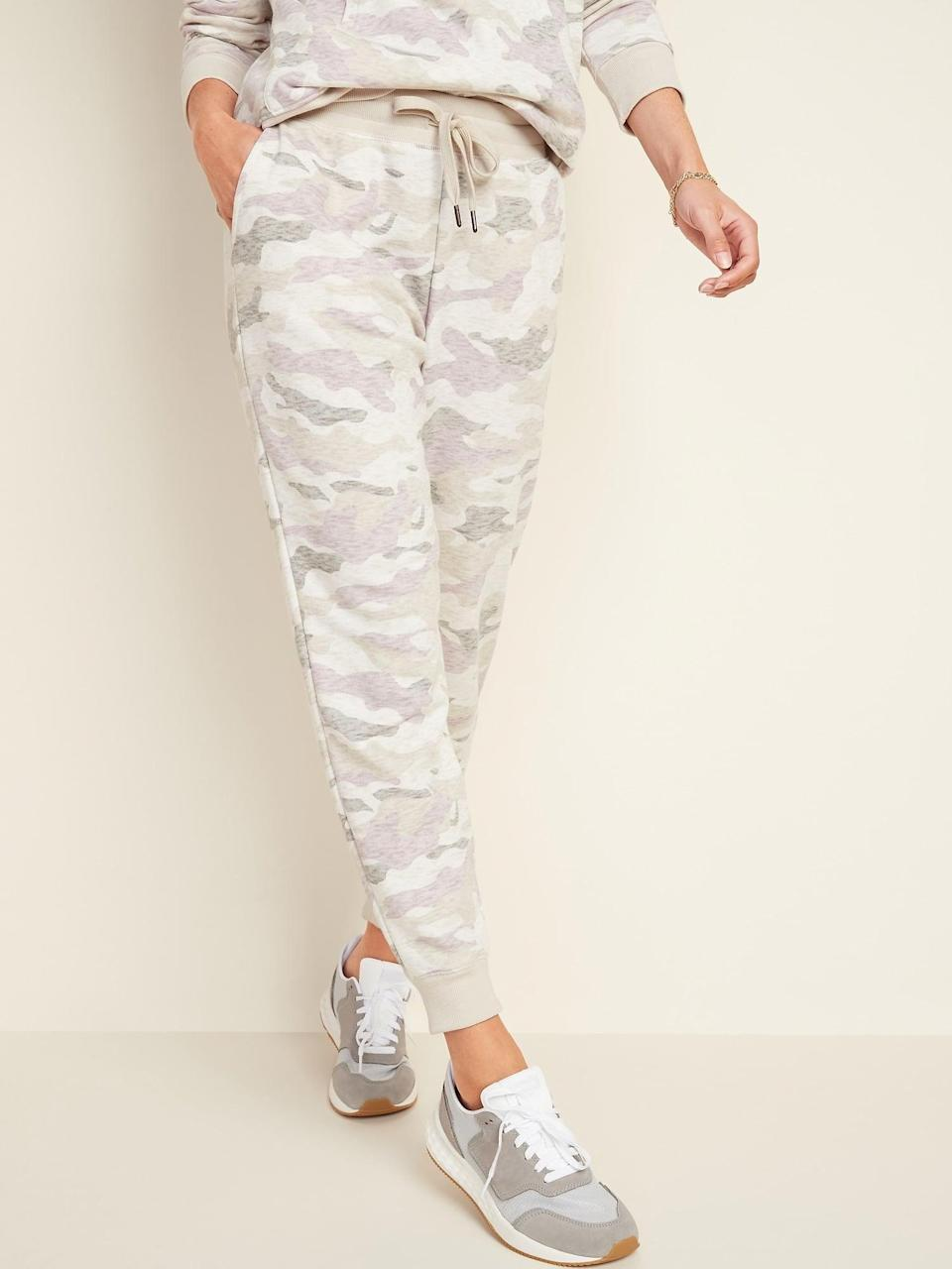 <p>These <span>Old Navy Mid-Rise Tapered-Leg Jogger Pants</span> ($30) are so cute.</p>