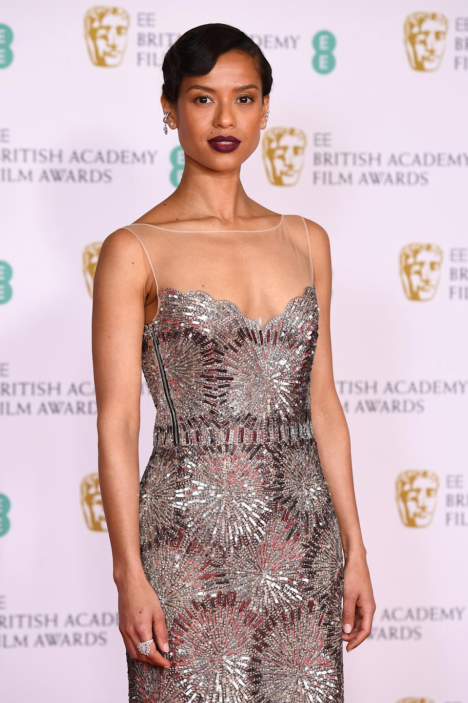 LONDON, ENGLAND - APRIL 11: Awards Presenter Gugu Mbatha-Raw attends the EE British Academy Film Awards 2021 at the Royal Albert Hall on April 11, 2021 in London, England. (Photo by Jeff Spicer/Getty Images)