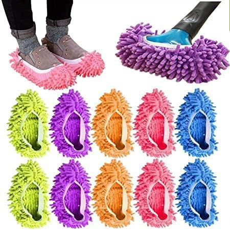 <p>While it's not necessarily something you'd want to use to clean your whole home, why not make an impromptu solo dance party do double duty as a cleaning session with these <span>Microfiber Mop Slipper Shoes For Floor Cleaning (5 Pairs, Washable/Reusable)</span> ($15)?</p>