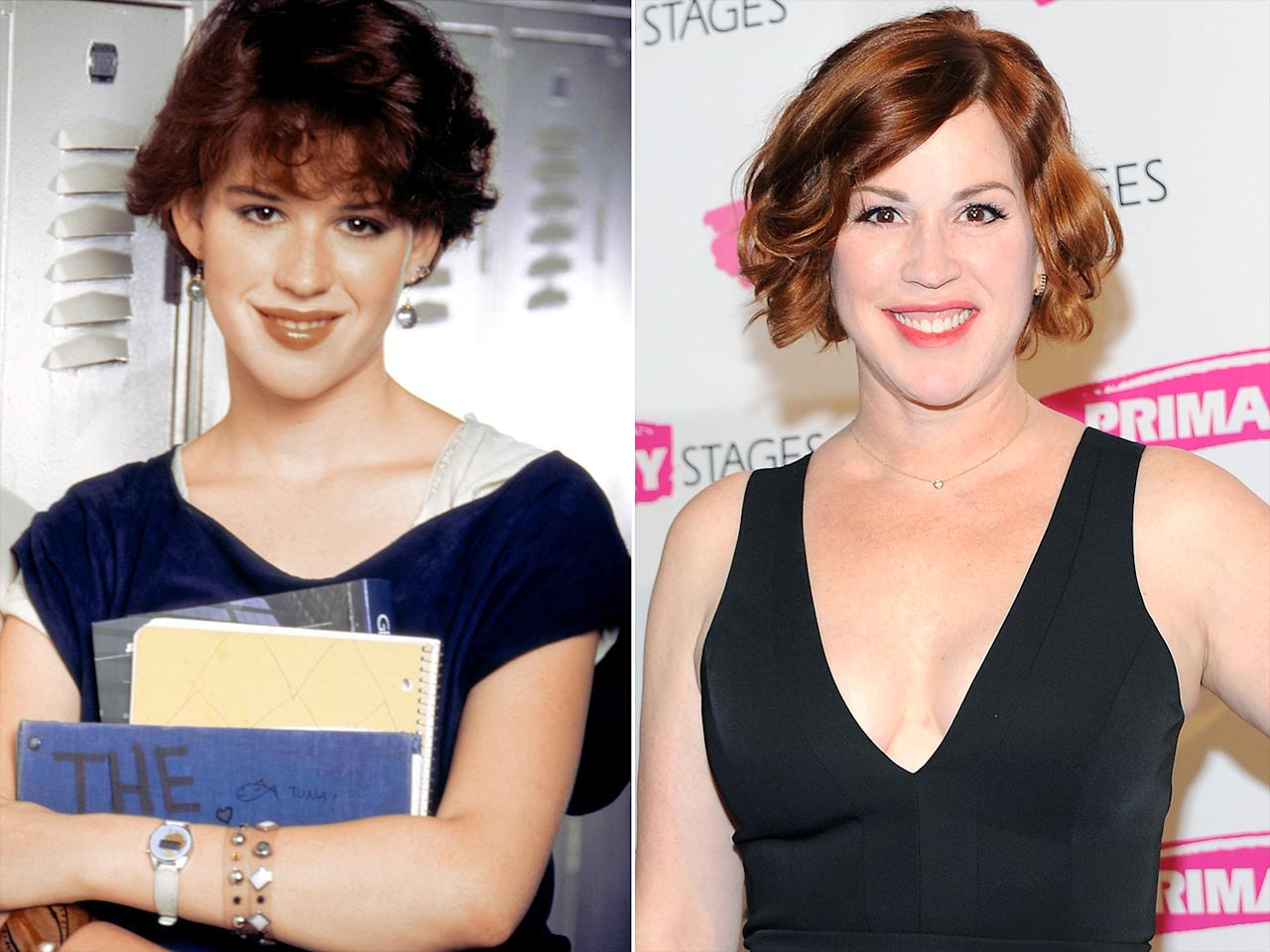 """<p>Ringwald, 49, has been one of the best at keeping her name in the news since her slew of '80s hits, earning a steady stream of credits before making a splash on ABC Family's <em>The Secret Life of the American Teenager </em>and <em>Raising Expectations</em> in recent years. In late March, her former costar Andrew McCarthy <a rel=""""nofollow"""" href=""""http://people.com/movies/molly-ringwald-to-play-mom-of-andrew-mccarthy-son-new-movie/"""">revealed that Ringwald would be playing his 15-year-old son Sam's mother</a> in the upcoming movie <em>All These Small Moments. </em>""""She emailed me on the first day and she said, 'Your son just did a scene and when he walked away, it was just like watching you walk away from me 30 years ago,' """" McCarthy recalled on <em>The MOMS</em>. Ringwald has three children with husband Panio Gianopoulos, whom she married in 2007.</p>"""